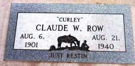 ROW, CLAUDE WHITSON - Yavapai County, Arizona | CLAUDE WHITSON ROW - Arizona Gravestone Photos