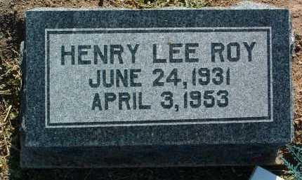 ROY, HENRY LEE - Yavapai County, Arizona | HENRY LEE ROY - Arizona Gravestone Photos