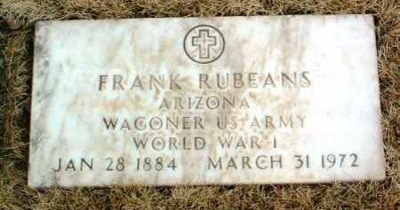 RUBEANS, FRANK - Yavapai County, Arizona | FRANK RUBEANS - Arizona Gravestone Photos