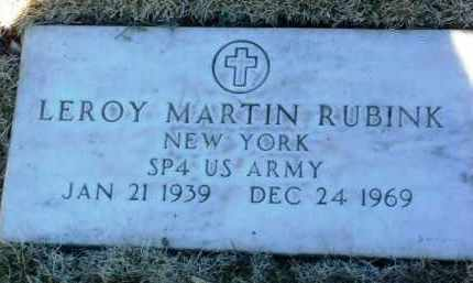 RUBINK, LEROY MARTIN - Yavapai County, Arizona   LEROY MARTIN RUBINK - Arizona Gravestone Photos