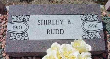 RUDD, SHIRLEY B. - Yavapai County, Arizona   SHIRLEY B. RUDD - Arizona Gravestone Photos