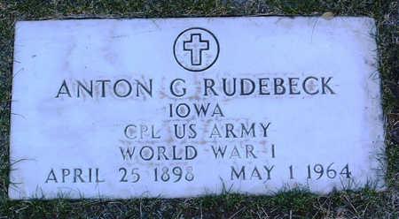 RUDEBECK, ANTON G. - Yavapai County, Arizona   ANTON G. RUDEBECK - Arizona Gravestone Photos