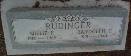 RUDINGER, MILLIE F. - Yavapai County, Arizona | MILLIE F. RUDINGER - Arizona Gravestone Photos