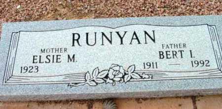 RUNYAN, BERT I. - Yavapai County, Arizona | BERT I. RUNYAN - Arizona Gravestone Photos
