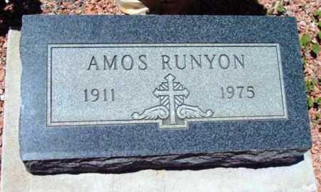 RUNYON, AMOS - Yavapai County, Arizona   AMOS RUNYON - Arizona Gravestone Photos
