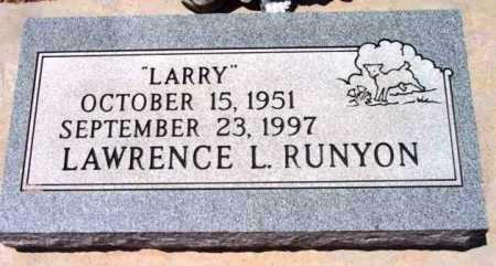 RUNYON, LAWRENCE L. (LARRY) - Yavapai County, Arizona   LAWRENCE L. (LARRY) RUNYON - Arizona Gravestone Photos