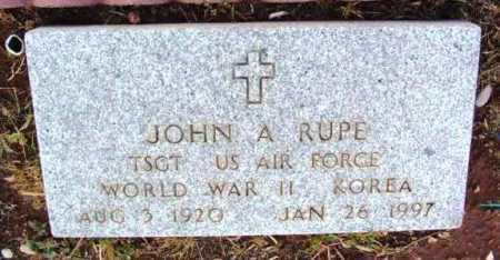RUPE, JOHN A. - Yavapai County, Arizona   JOHN A. RUPE - Arizona Gravestone Photos