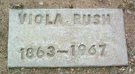 RUSH, VIOLA - Yavapai County, Arizona | VIOLA RUSH - Arizona Gravestone Photos