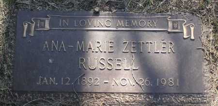 RUSSELL, ANA-MARIE - Yavapai County, Arizona | ANA-MARIE RUSSELL - Arizona Gravestone Photos