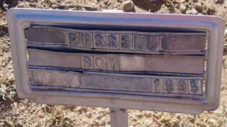 RUSSELL, BOY - Yavapai County, Arizona   BOY RUSSELL - Arizona Gravestone Photos