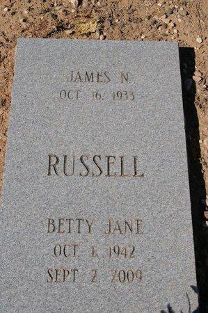 RUSSELL, BETTY JANE - Yavapai County, Arizona   BETTY JANE RUSSELL - Arizona Gravestone Photos