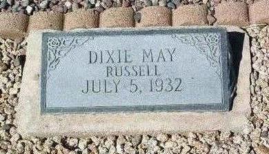 RUSSELL, DIXIE MAY - Yavapai County, Arizona   DIXIE MAY RUSSELL - Arizona Gravestone Photos