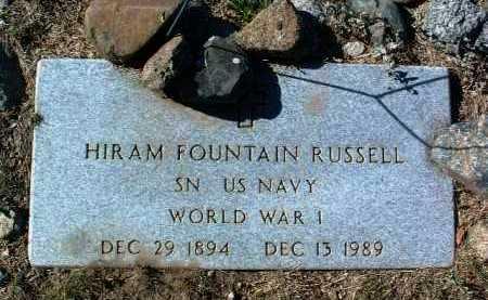 RUSSELL, HIRAM FOUNTAIN - Yavapai County, Arizona | HIRAM FOUNTAIN RUSSELL - Arizona Gravestone Photos