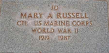 RUSSELL, MARY A. (JO) - Yavapai County, Arizona   MARY A. (JO) RUSSELL - Arizona Gravestone Photos