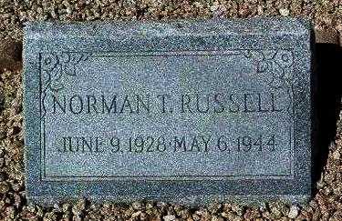 RUSSELL, NORMAN THOMAS - Yavapai County, Arizona | NORMAN THOMAS RUSSELL - Arizona Gravestone Photos