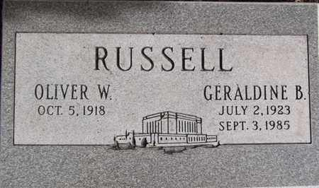 RUSSELL, OLIVER WALTON - Yavapai County, Arizona   OLIVER WALTON RUSSELL - Arizona Gravestone Photos