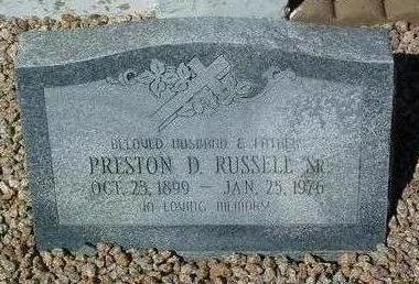 RUSSELL, PRESTON DOTY, SR. - Yavapai County, Arizona | PRESTON DOTY, SR. RUSSELL - Arizona Gravestone Photos
