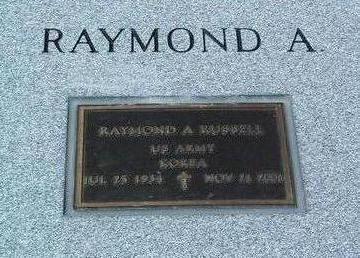 RUSSELL, RAYMOND  A. - Yavapai County, Arizona | RAYMOND  A. RUSSELL - Arizona Gravestone Photos