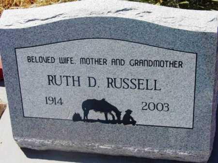 RUSSELL, RUTH D. - Yavapai County, Arizona | RUTH D. RUSSELL - Arizona Gravestone Photos