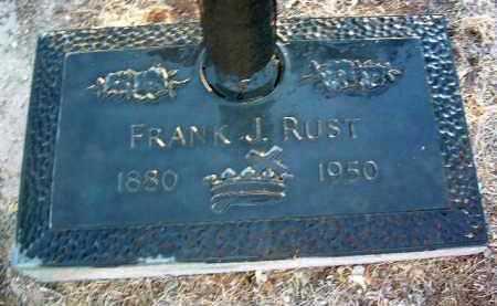 RUST, FRANK J. - Yavapai County, Arizona | FRANK J. RUST - Arizona Gravestone Photos