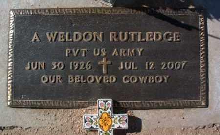 RUTLEDGE, ALVIS WELDON - Yavapai County, Arizona | ALVIS WELDON RUTLEDGE - Arizona Gravestone Photos