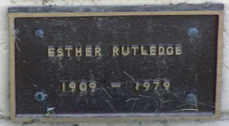 RUTLEDGE, ESTHER - Yavapai County, Arizona | ESTHER RUTLEDGE - Arizona Gravestone Photos