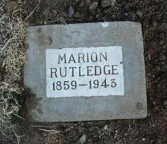 RUTLEDGE, MARION - Yavapai County, Arizona | MARION RUTLEDGE - Arizona Gravestone Photos