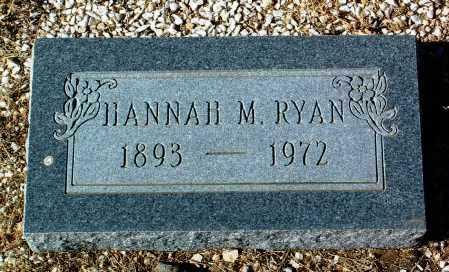 RYAN, HANNAH M. - Yavapai County, Arizona | HANNAH M. RYAN - Arizona Gravestone Photos