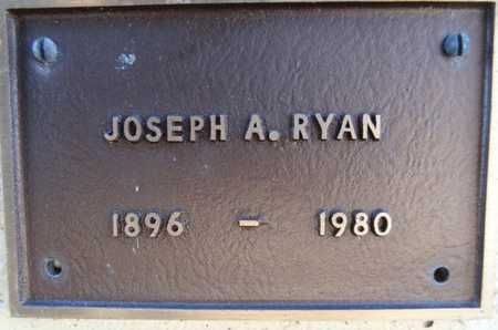 RYAN, JOSEPH A. - Yavapai County, Arizona | JOSEPH A. RYAN - Arizona Gravestone Photos