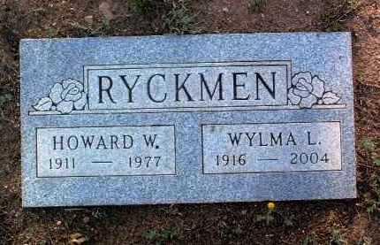 RYCKMEN, HOWARD W. - Yavapai County, Arizona | HOWARD W. RYCKMEN - Arizona Gravestone Photos