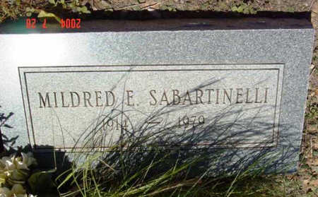 SABARTINELLI, MILDRED E. - Yavapai County, Arizona | MILDRED E. SABARTINELLI - Arizona Gravestone Photos