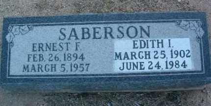 SABERSON, EDITH I. - Yavapai County, Arizona   EDITH I. SABERSON - Arizona Gravestone Photos