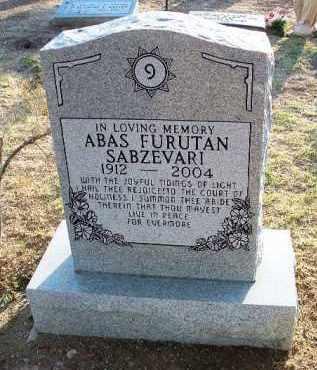 SABZEVARI, ABAS FURUTAN - Yavapai County, Arizona | ABAS FURUTAN SABZEVARI - Arizona Gravestone Photos