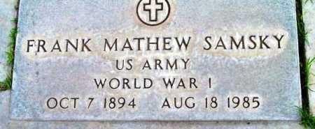 SAMSKY, FRANK MATHEW - Yavapai County, Arizona | FRANK MATHEW SAMSKY - Arizona Gravestone Photos
