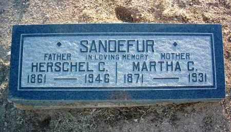 SANDEFUR, HERSCHEL CLAYTON - Yavapai County, Arizona | HERSCHEL CLAYTON SANDEFUR - Arizona Gravestone Photos