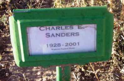 SANDERS, CHARLES EDWIN - Yavapai County, Arizona   CHARLES EDWIN SANDERS - Arizona Gravestone Photos