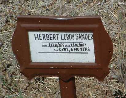 SANDERS, HERBERT LEROY - Yavapai County, Arizona   HERBERT LEROY SANDERS - Arizona Gravestone Photos