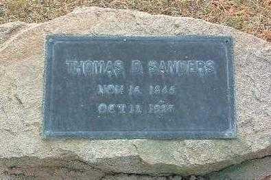 SANDERS, THOMAS DUDLEY - Yavapai County, Arizona | THOMAS DUDLEY SANDERS - Arizona Gravestone Photos