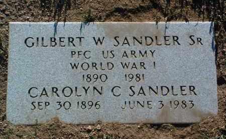 SANDLER, GILBERT WILLIAM, SR. - Yavapai County, Arizona | GILBERT WILLIAM, SR. SANDLER - Arizona Gravestone Photos