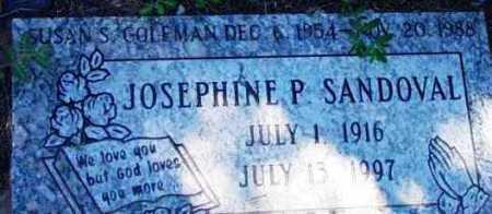 SANDOVAL, JOSEPHINE P. - Yavapai County, Arizona   JOSEPHINE P. SANDOVAL - Arizona Gravestone Photos