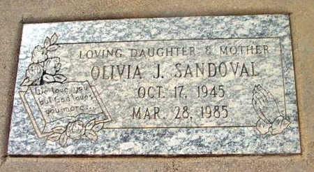 SANDOVAL, OLIVIA J. - Yavapai County, Arizona | OLIVIA J. SANDOVAL - Arizona Gravestone Photos