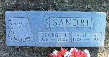 SANDRI, GEORGE JOHN - Yavapai County, Arizona | GEORGE JOHN SANDRI - Arizona Gravestone Photos