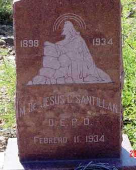 SANTILLAN, M. DE JESUS - Yavapai County, Arizona   M. DE JESUS SANTILLAN - Arizona Gravestone Photos