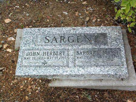 SARGENT, JOHN HERBERT - Yavapai County, Arizona | JOHN HERBERT SARGENT - Arizona Gravestone Photos