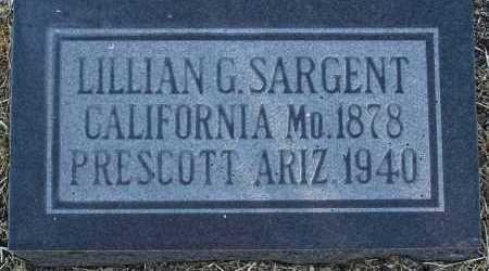 SARGENT, LILLIAN G. - Yavapai County, Arizona | LILLIAN G. SARGENT - Arizona Gravestone Photos