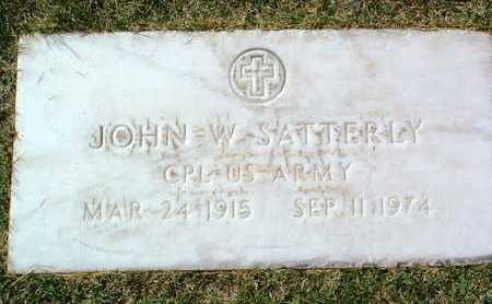 SATTERLY, JOHN W. - Yavapai County, Arizona | JOHN W. SATTERLY - Arizona Gravestone Photos