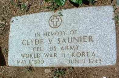 SAUNIER, CLYDE VICTOR - Yavapai County, Arizona | CLYDE VICTOR SAUNIER - Arizona Gravestone Photos