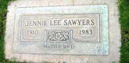 SAWYERS, JENNIE - Yavapai County, Arizona | JENNIE SAWYERS - Arizona Gravestone Photos