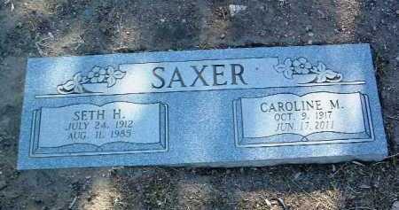 SAXER, CAROLINE M. - Yavapai County, Arizona   CAROLINE M. SAXER - Arizona Gravestone Photos