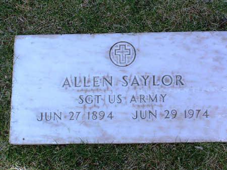 SAYLOR, ALLEN - Yavapai County, Arizona   ALLEN SAYLOR - Arizona Gravestone Photos
